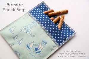 Quick Serger Snack Bags - Free Baby Lock Projects. loads of projects here