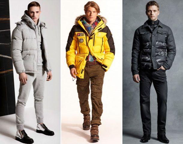 Зимние мужские куртки различных фасонов.