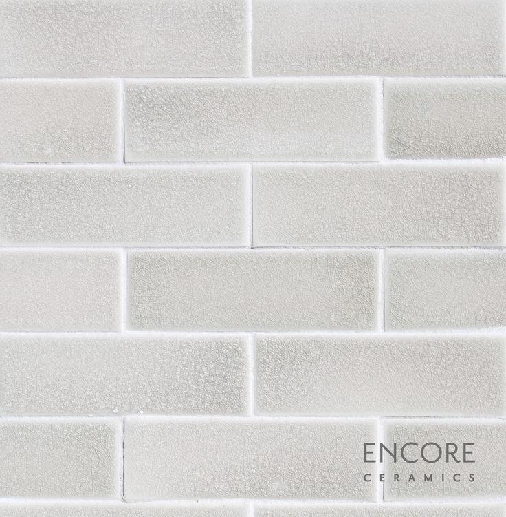 Encore Ceramics Crackle Subway Tile In Silver