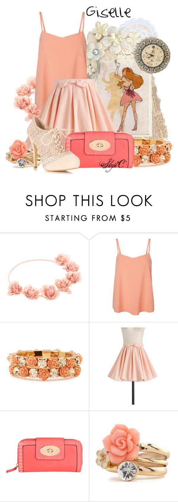 """""""Giselle - Disney's Enchanted"""" by rubytyra ❤ liked on Polyvore featuring Disney, Vero Moda, Forever 21, Cutie, Jane Norman, Charlotte Russe, Miss Selfridge, disney, disneybound and enchanted"""