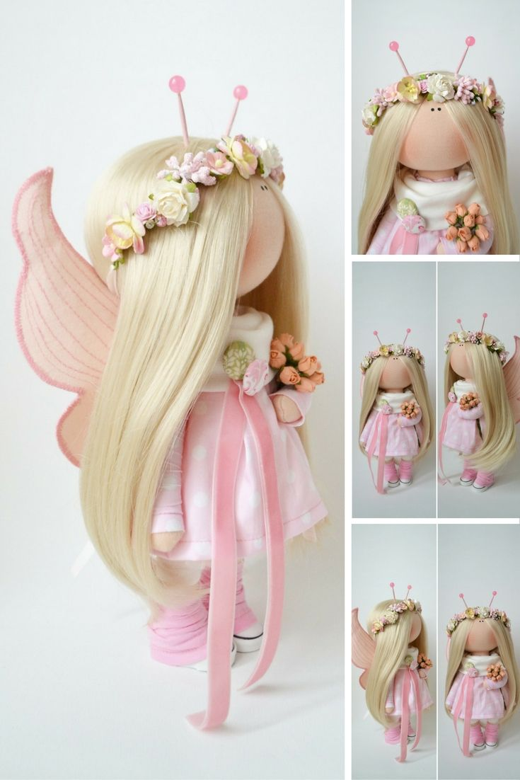 Butterfly doll Fabric doll Interior doll Handmade doll Textile doll Tilda doll Pink doll Cloth doll Baby doll Art doll: https://www.etsy.com/listing/467385912/butterfly-doll-fabric-doll-interior-doll