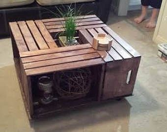 Four Wine Crate Coffee Table