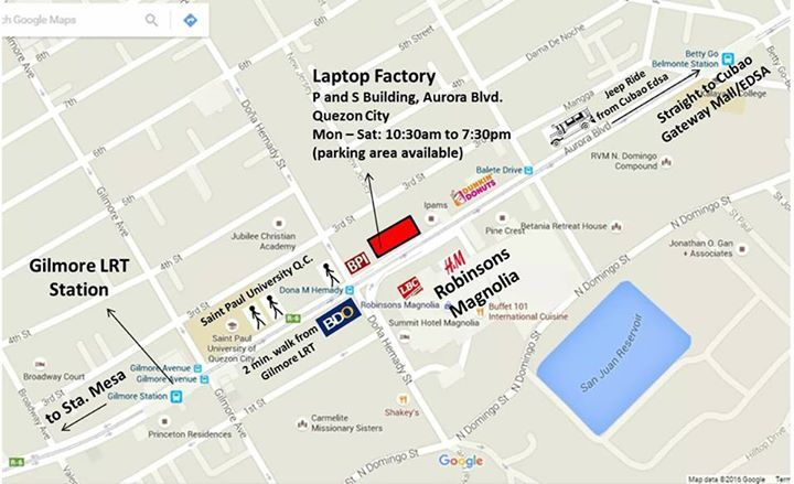 Parking is usually packed during Fridays and Saturdays in front of our building, customers can park at Robinsons Magnolia, directly in front of our building. Our location is beside St Paul University, in front of a Mall and alot of Commercial Banks around so it is fairly safe to walk around our vicinity. #electronics #mobiles #mobilesaccessories #laptops #computers #games #cameras #tablets   #3Dprinters #videogames  #smartelectronics  #officeelectronics