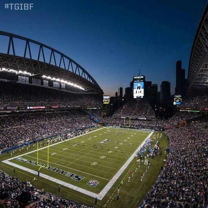 Seattle Seahawks - CenturyLink Football Stadium. I had the opportunity to perform on this field with my dance team! Awesome experience!