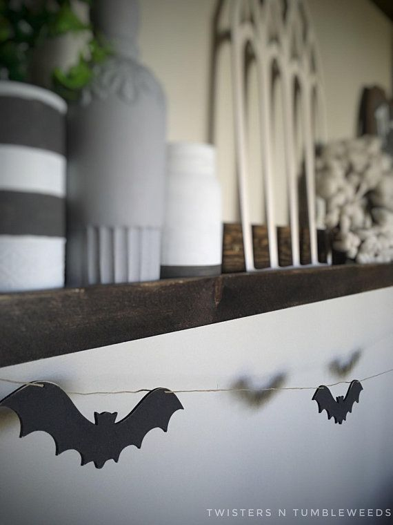 Wood Bat Garland Banner Cutouts Decor Party Fireplace Mantel Mantle Decorations Fall Shelf Wall Art In 2019
