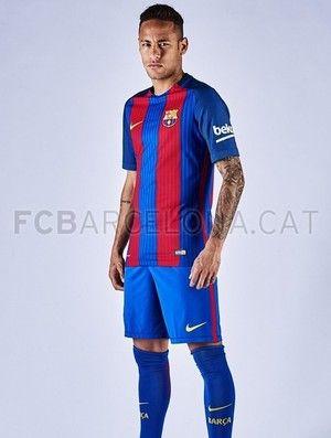 Neymar Barcelona uniforme (Foto: Divulgação/Site oficial do Barcelona)