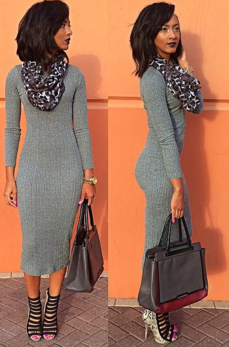 Love this length in a sweater dress!!                                                                                                                                                                                 More