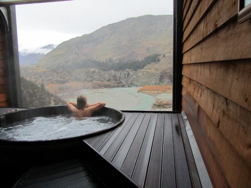Can you imagine soaking in this tub with this view? Too perfect