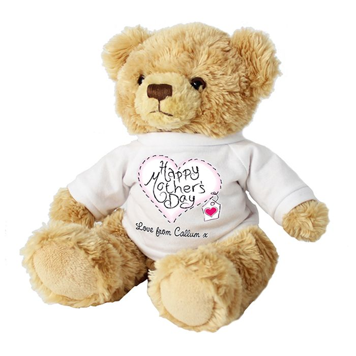 Personalised Heart Stitch Mother's Day Message Bear