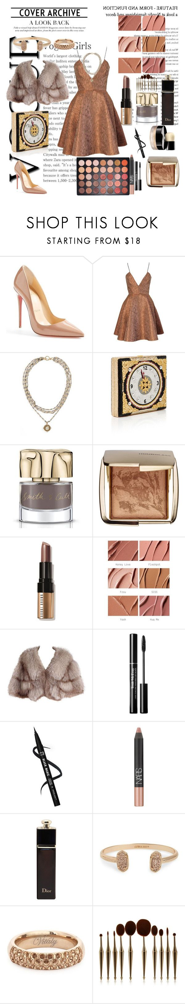 """""""."""" by nour20-17 ❤ liked on Polyvore featuring Christian Louboutin, Joana Almagro, Virgins Saints & Angels, Smith & Cult, Hourglass Cosmetics, Bobbi Brown Cosmetics, Chanel, MAC Cosmetics, NARS Cosmetics and Christian Dior"""
