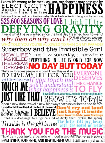 Everything I need to know in life I learned from musical theatre.  beautiful...