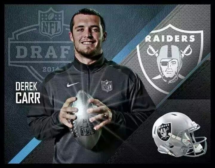 Image result for derek carr getting drafted by Raiders