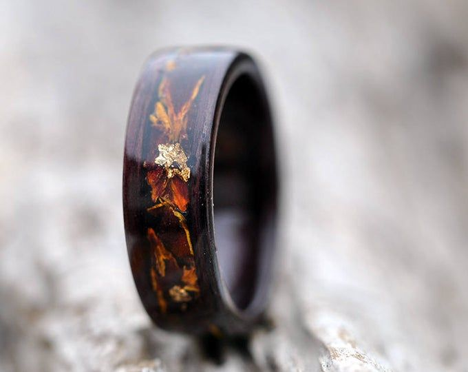 Secret Wood Ring Wooden Couple Rings Bentwood Rings Wood