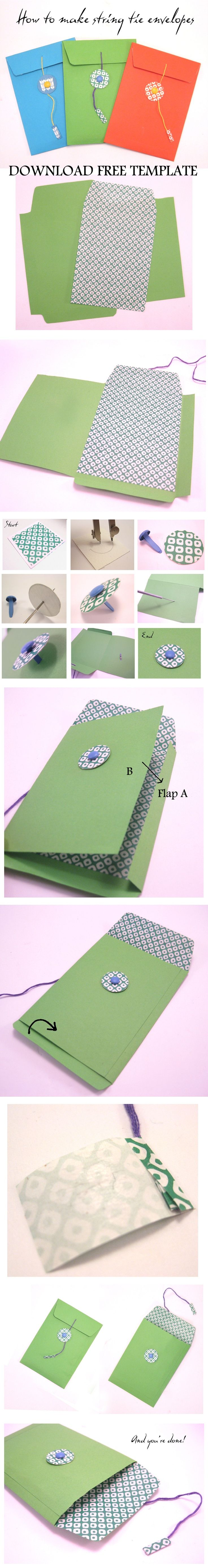 These super easy string tie envelopes will amaze your guests with their professional look. You can customise them to match your Wedding Stationary or your wedding day colour palette. Use them to package your wedding favours or even the rings!Click on the image to download your free template.