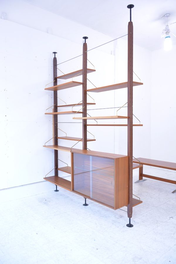poul Cadovius room divider in teak. System Royal