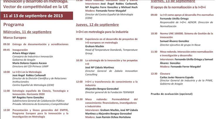 UIMP. Innovación y desarrollo en metrología. Vector de competitividad en la UE http://www.uimp.es/uimp/home/homeUIMPdina.php?jcj=ACTIVIDADES_ACADEMICAS=3002=es=plan=61YU=2013-14=N=es=ACA