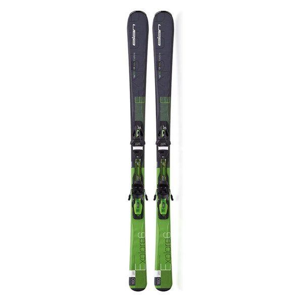 Elan Men's Explore 6 Green All Mountain Skis with EL 10.0 QT Bindings '16
