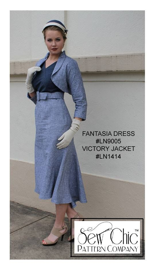 Fantasia dress and Victory jacket by Sew Chic