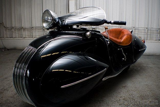 Art Deco 1930 KJ Henderson Custom Motorcycle