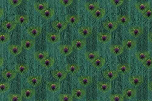 Punjab Peacock Fabric by IMAN - eclectic - upholstery fabric - Jan Jessup