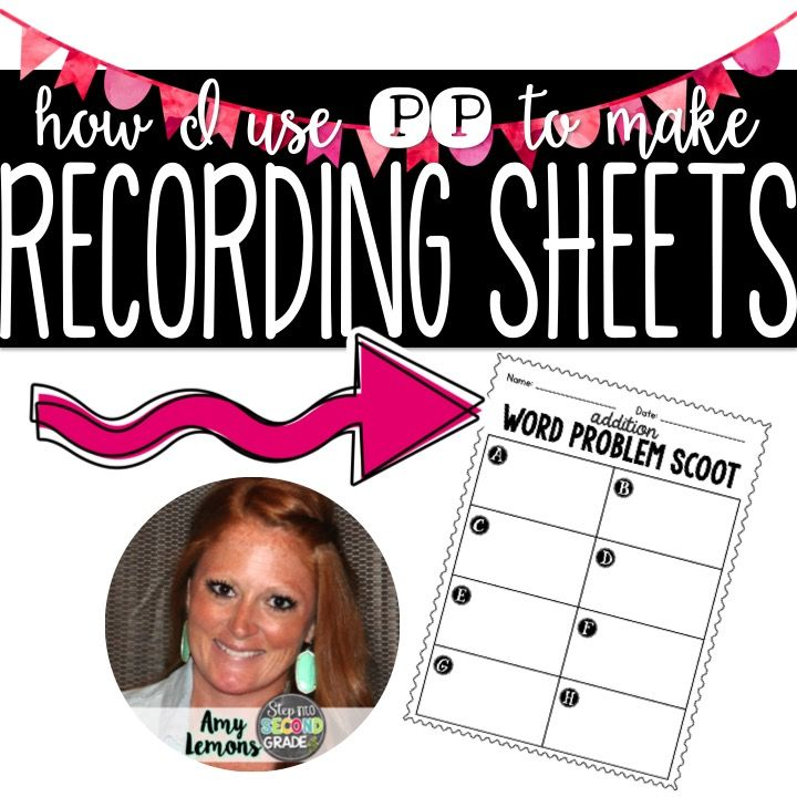 Video Tutorial: Using Power Point to Make Recording Sheets