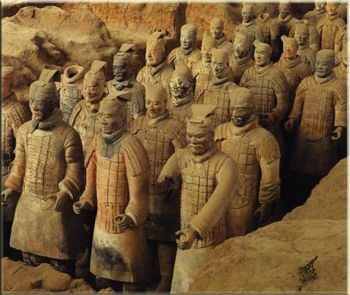 ancient chinese soldiers made to protect the dead in their tombs. I so want to go and see these. | Pinterest | Ancient china, China and History