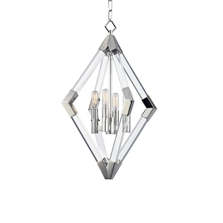 Mid-Century Modern Pendant Light Polished Nickel Lyons by Hudson Valley Lighting  sc 1 st  Pinterest & 85 best lighting images on Pinterest | Candles Canopies and ... azcodes.com
