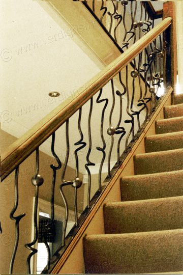 These Contemporary And Funky Metal Stair Spindles Were   Modern Metal Stair Spindles