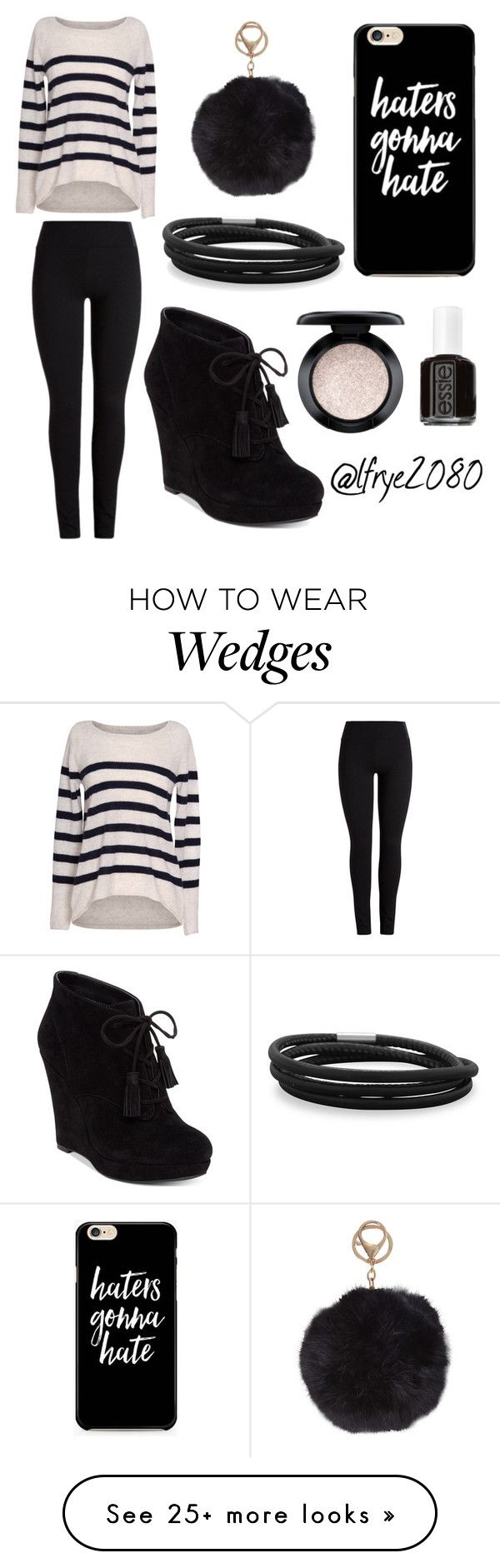 """""""Black Wedges"""" by lfrye2080 on Polyvore featuring Velvet by Graham & Spencer, Jessica Simpson, Essie, MAC Cosmetics, BillyTheTree and Humble Chic"""