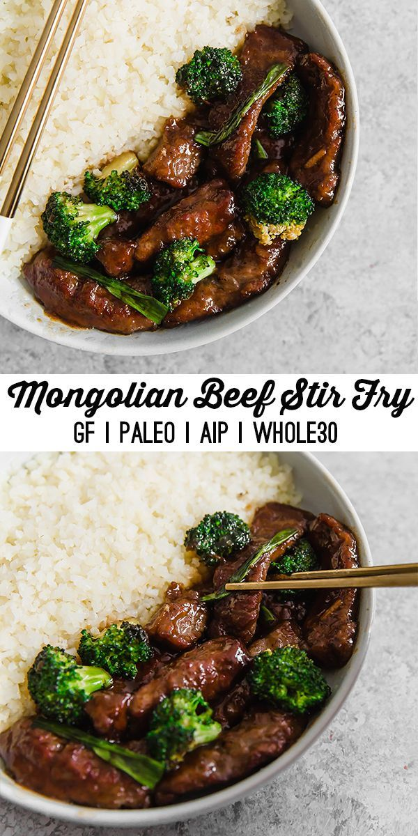 This Mongolian Beef Stir Fry is flavorful, simple, and filling! It's soy fre…