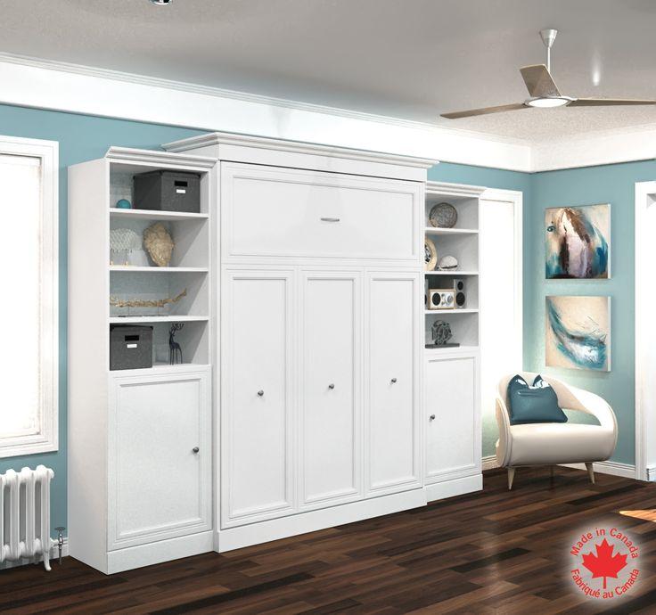 bestar queen wall bed kit