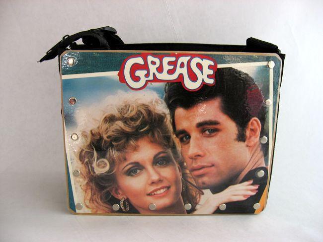 Music Purse - Record Album Purses - Grease soundtrack, $50.00 (http://www.musicpurse.com/grease-soundtrack/)