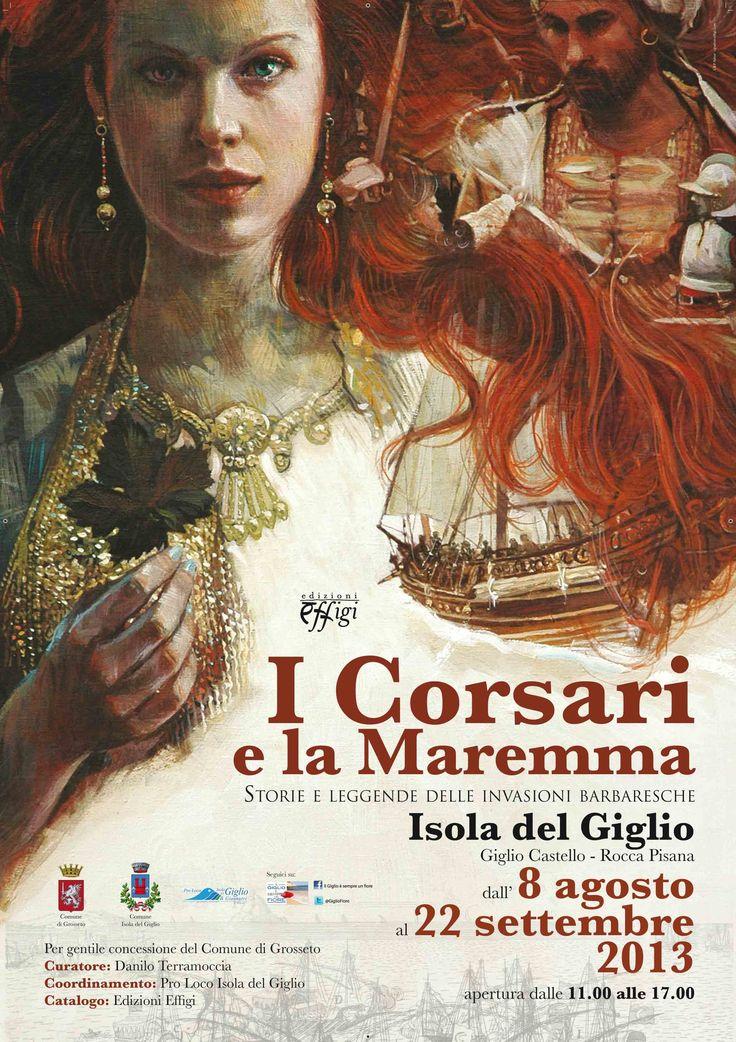 """Manifesto 70x100 cm realizzato per la presentazione del libro """"I corsari di Maremma"""" all'Isola del Giglio - C&P ADVER"""