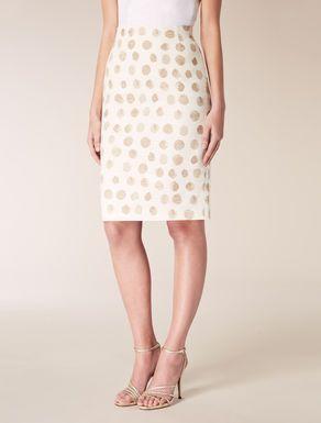 Cotton and linen tube skirt
