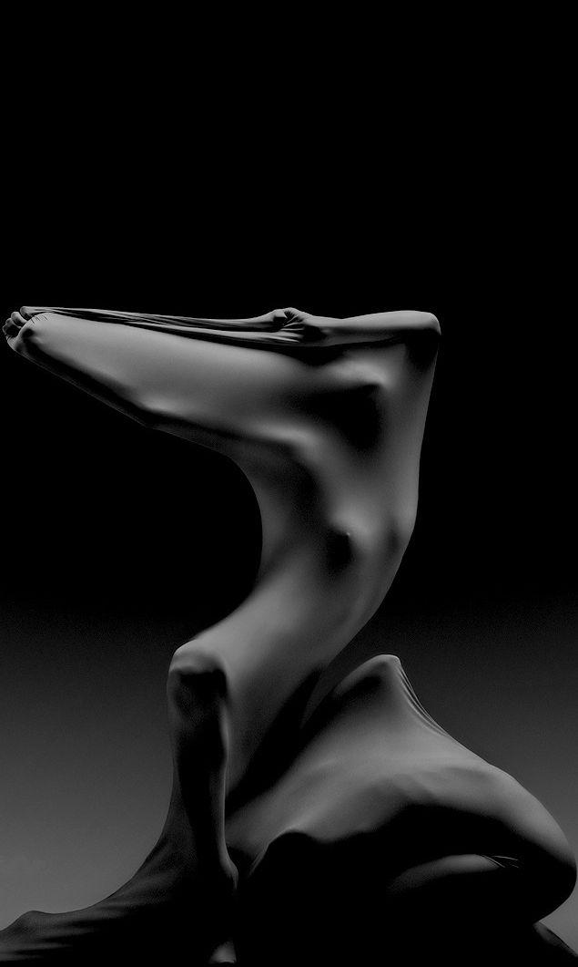 Mouvement, corps et tissus, photo NB
