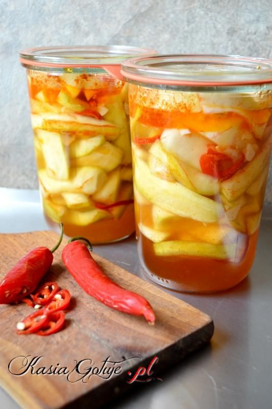 Cukinie w chili i czosnku na zimę