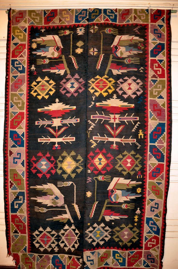 Bessarabia / Moldova; romanian rug in the National Ethnographic Museum, Chisinau
