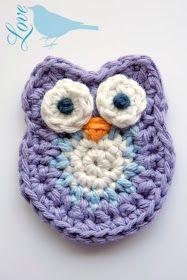 Love The Blue Bird: Crochet Owl Pattern... Free pattern, in English.