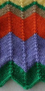 zigzagpatroon breien