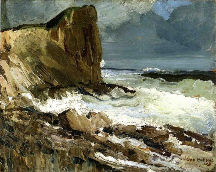 Gull Rock and Whitehead // by George Bellows
