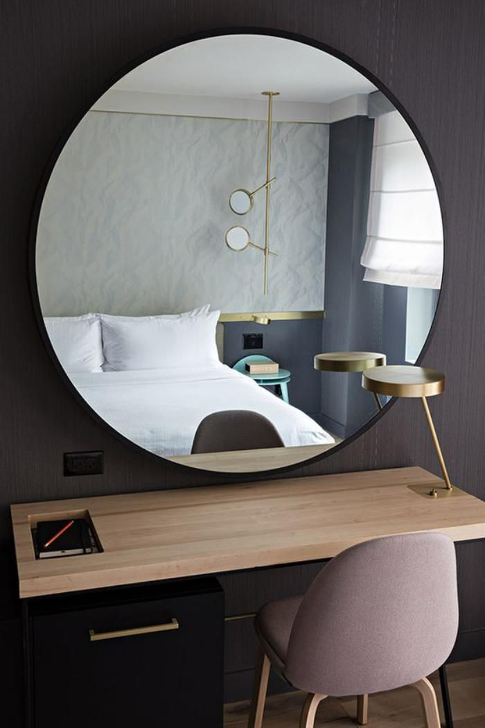 17 meilleures id es propos de meubles de chambre for Miroir au dessus du lit
