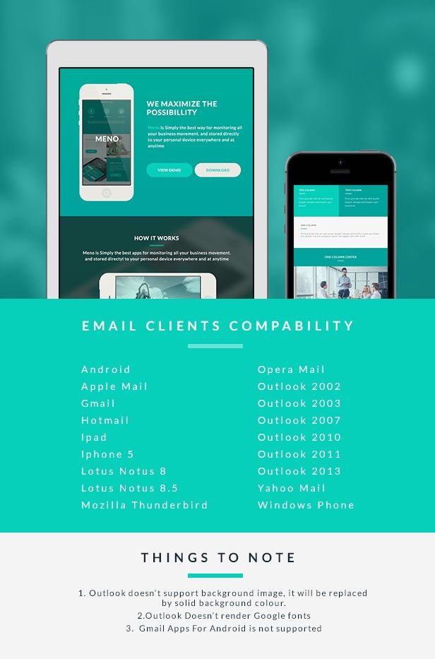 Corporate Email Template - Meno Builder Access #Template, #Email