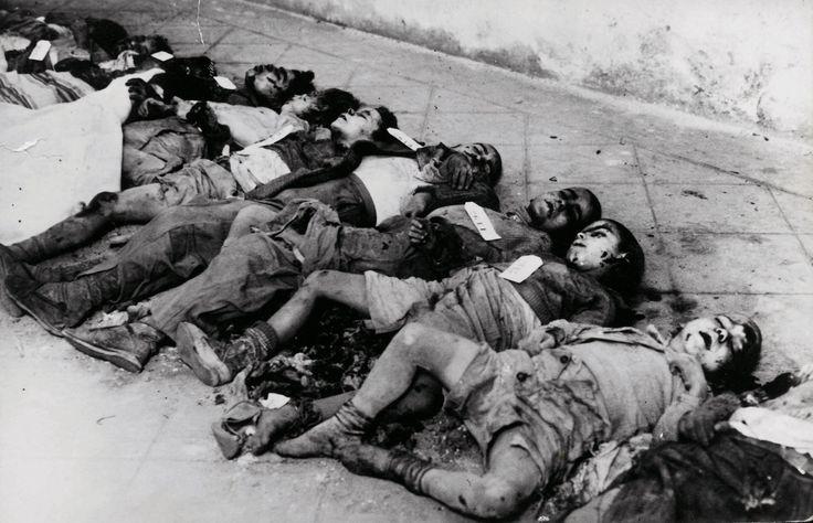30 de enero de 1938; niños muertos por los efectos de los bombardeos sobre la población civil. http://degarcia-pacodiscomix.blogspot.com.es/
