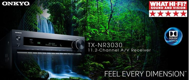 """Proud to see our TX-NR3030 as a 5 star recommendation in Whathifi.com  One more jewel in the crown for Onkyo and another testimony to Onkyo's relentless efforts in bringing the best of AVRs.   WHAT HI*FI Verdict -  """"Onkyo is back on top with this stonkingly good amp""""     http://www.whathifi.com/onkyo/tx-nr3030/review#BHCSu3UiKChFJsij.99"""