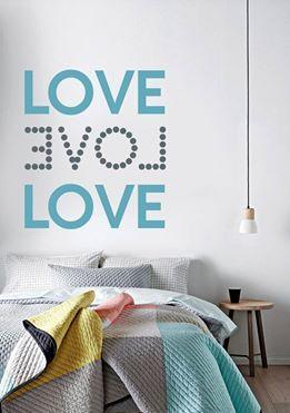 Με αγάπη...  Αυτοκόλλητο τοίχου: http://www.houseart.gr/details.php?id=351&pid=12885  #houseart #love #sticker #lovers #valentine #wallsticker