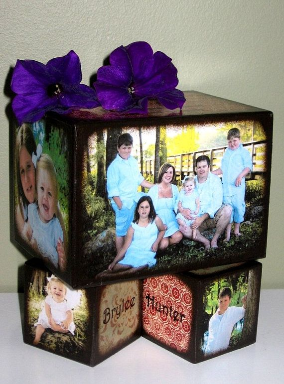 This would be cute not only as a decoration, but as a sweet little kid's block set... family foundations!