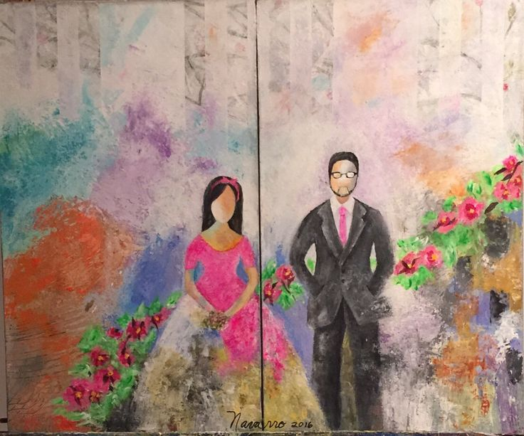 Amor Eterno Acrilico sobre lienzo Carmen Alicia Navarro