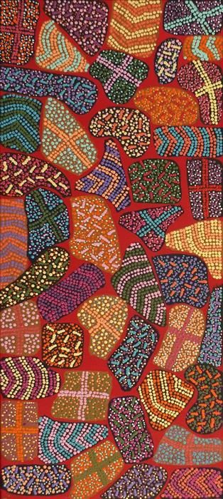 Yarla Jukurrpa (Bush Potato Dreaming) - Cockatoo Creek by Adrianna Nangala Egan