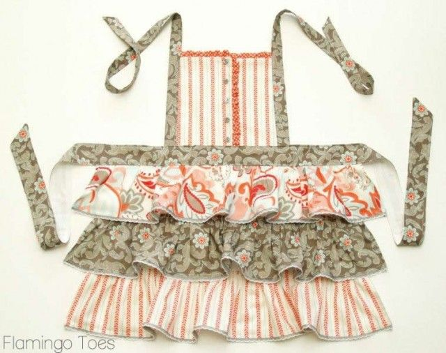 shoes  amp  Ruffles and Buttons Aprons    Apron outlet   air Ruffles Flamingos