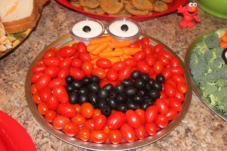 Elmo veggie face